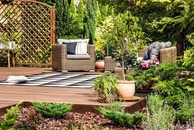 Garden Ideas - Add Decking with Planted Areas