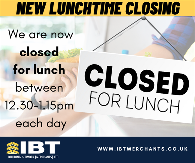 LUNCHTIME CLOSING