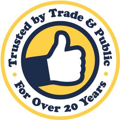 Trusted By Trade & Public For Over 15 Years badge