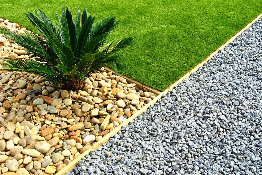 Gardening Ideas Using Gravel Stones As A Feature